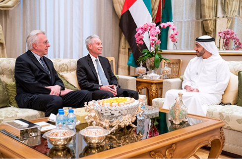 Tom Mattair and Rich Schmierer meet Abdullah bin Zayed